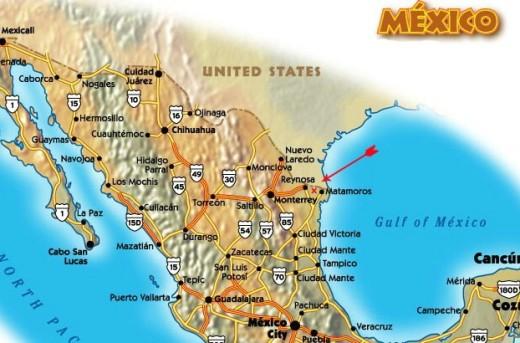 Rio Bravo Mexico Map.Location 1